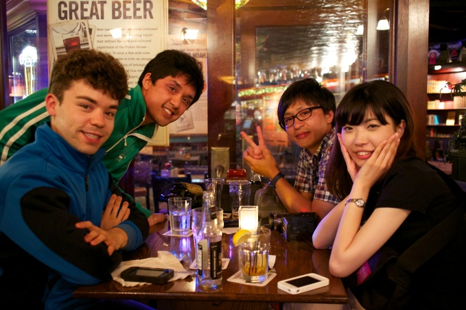 Donny, me, Kenji and Kana at The Elephant and Castle