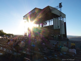 A sunstar in the late afternoon before the show