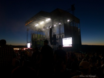 The stage backed by the night sky was amazing