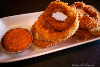 Perfectly friend onion rings