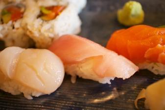 Scallops, albacore, king salmon